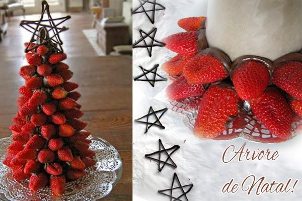 decorar uma arvore de natal : decorar uma arvore de natal:Árvore de Natal de Morangos – Como Fazer e Decorar