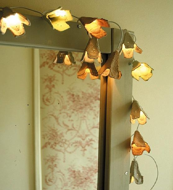 Luminária- Flores-ovosss
