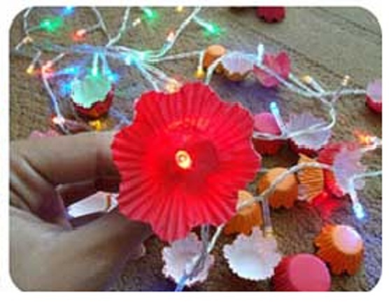 Luminária- Flores-uma