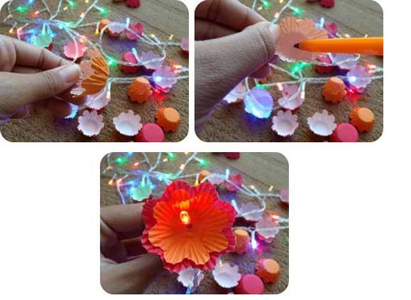 Luminária- Flores