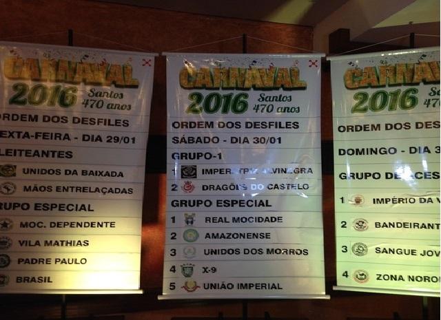 Carnaval de Santos ordem