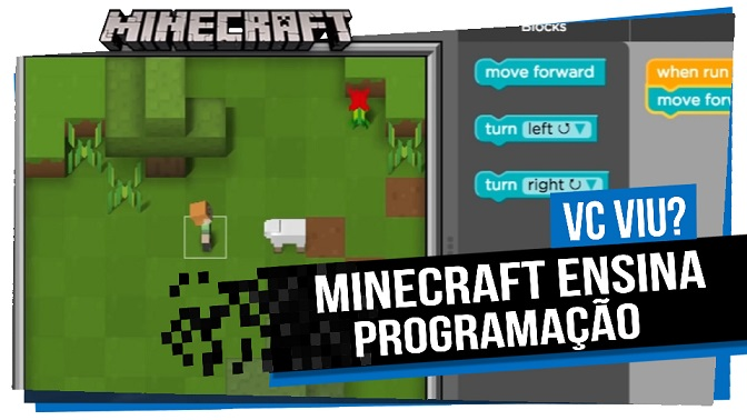 Microsoft  Game  Minecraft ensina