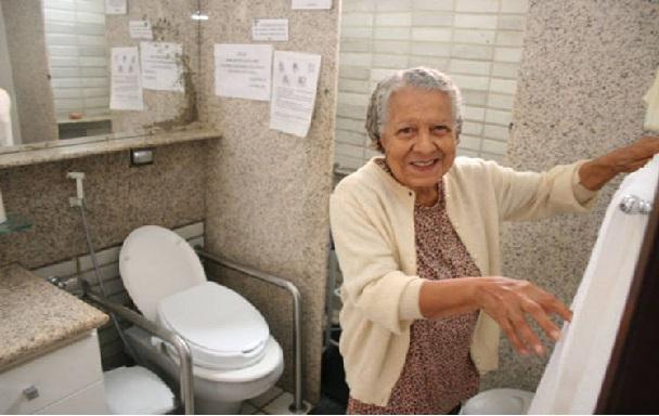 Banheiros Para Idosos  Dicas de Como montar -> Banheiros Simples Para Idosos