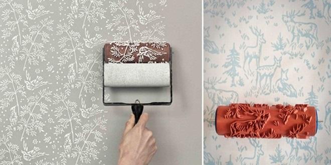 Rolo de pintura decorativo modelos e onde comprar - Papel para paredes decorativo ...