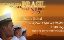 Marinha Escola de Aprendizes 2016 – Inscrições