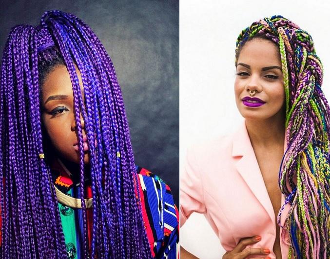 Resultado de imagem para imagens de tranças africanas coloridas