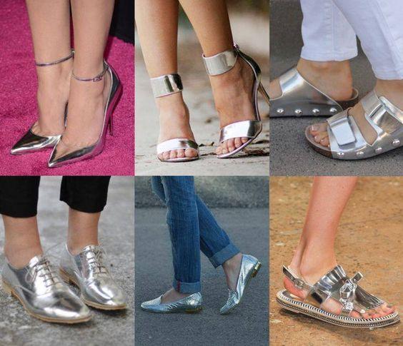 Calçados Verão 2017 -prata