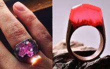 Anéis Exclusivos – Paisagens Em Miniaturas