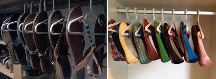Organizar Sapatos - Dicas Criativas cabides