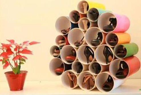 Organizar Sapatos - Dicas Criativas tubo