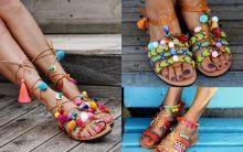 Sandália Com Pompom – Tendência de Verão
