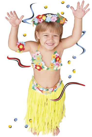 Fantasia havaiana infantil passo a passo patchwork