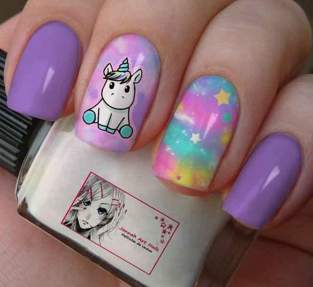 Resultado de imagem para unhas decoradas unicornio