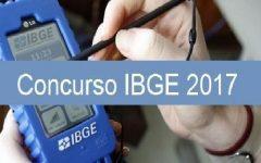 Concurso IBGE 2017 – Inscrições