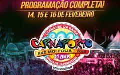 Carnaporto Axé Moi Folia 2018 – Programação e Ingressos