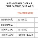 Cronograma Capilar – Como Funciona e Produtos e Tabelas