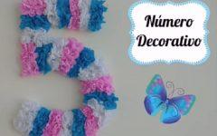Numero Decorativo Para Festa – Material e Vídeo